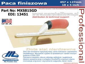457x127mm MXS815GD paca finiszowa 18x5in, złota