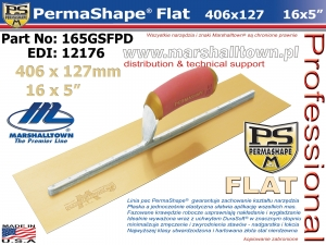 406x127mm 165GSFPD PermaShape® Flat 16x5in