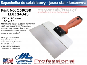 3506SD 152x76mm 6x3in jasna stal DS® Hdl