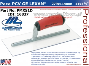 279x114mm PMXS1D LEXAN®, Finishing PCV, DuraSoft®