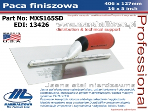 406x127mm MXS165SD paca finiszowa 16x5in, jasna stal