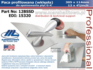 Profilowana 12BSSD 12x4-1/2 - 305x114mm, DuraSoft, do spoinowania
