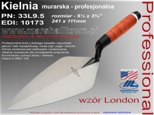 "Kielnia 9.5"" 33L9.5 wzór London 241x111mm"