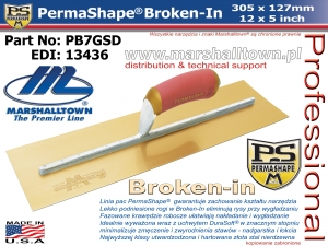 PermaShape Broken-In PB7GSD 305x127mm 12x5 złota