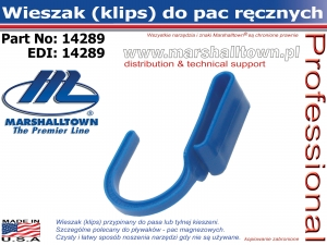 Wieszak do pac (klips)