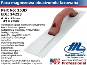 610x79mm 153D 24x3⅛in paca magnezowa do betonu - fazowana
