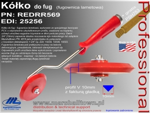 Kółko do fug REDRR569 - profil V 10mm faktura gładka