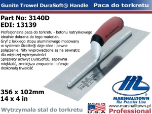 Torkretowa 3140D 14x4 356x102mm paca do betonu