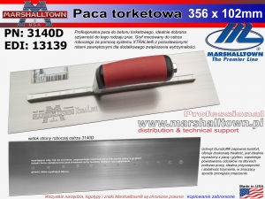 Torkretowa 3140D 356x102mm 14x4 paca do betonu