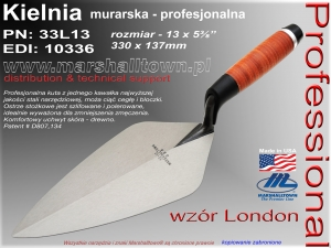 "Kielnia 13"" 33L13 wzór London 330x137mm"