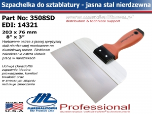 3508SD 203x76 8x3in jasna stal DS® Hdl