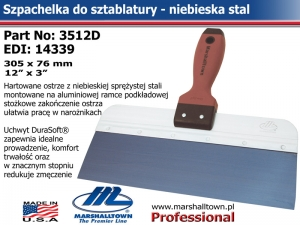 3512D BS 305x76mm 12x3in niebieska stal DS® HDL