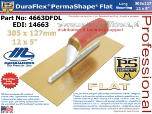 305x127mm 4663DFDL PermaShape® FLAT DuraFlex® 12x5in Long Mount., złota
