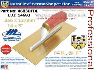 356x127mm 4683DFDL PermaShape® DuraFlex® 14x5in Long Mount., złota