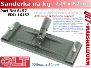 6157 QLT szlifierka do gipsu na kij 229x82mm