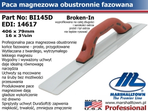 406x79mm BI145D 16x3⅛in paca magnezowa do betonu Broken-In