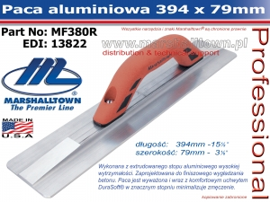 394x79mm MF380R paca aluminiowa do betonu